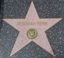 Deborah Kerr's star on the Hollywood Walk of Fame at 1709 Vine Street