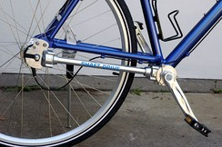 A bicycle with shaft drive instead of a chain