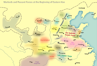 Situation of warlords and peasant forces at the beginning of Eastern Han dynasty