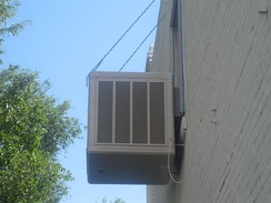 An evaporative cooler