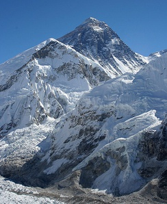 Mount Everest, the highest peak on earth, lies on the Nepal-China border.