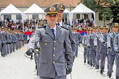 Training of soldiers of the Military Police of São Paulo State at the Military Police Academy of Barro Branco.