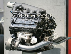 A 1988 Honda RA168E turbocharged V6 engine.