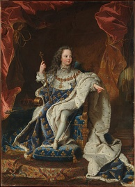 Louis XV as a child, by Hyacinthe Rigaud (1715)