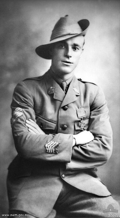Roy Inwood, who received the Victoria Cross for his actions during the fighting around Polygon Wood