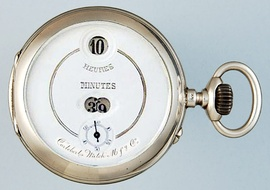 Cortébert digital mechanical pocket watch (1890s)