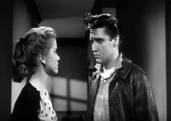 Screen shot of Elvis and Dolores Hart in the film King Creole