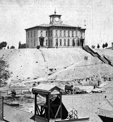 Original LAHS location, on Poundcake Hill, 1873.