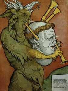 Luther as the Devil's Bagpipes by Eduard Schoen, circa 1535.