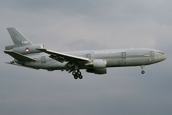 The second Royal Netherlands Air Force KDC-10 with landing gear down