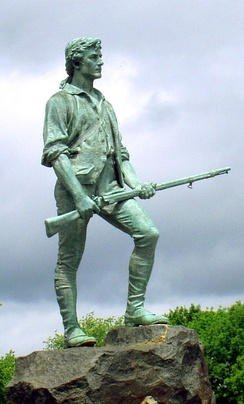The Lexington Minuteman monument, 1900, by Henry Hudson Kitson