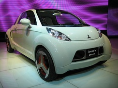 The i MiEV Sport, pictured at the Tokyo Motor Show.