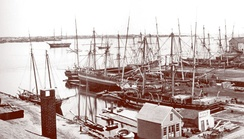 The New Bedford waterfront, 1867