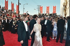 Phoenix and Martha Plimpton on the red carpet at the 61st Academy Awards, 1989
