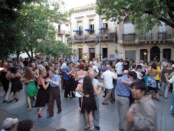Sunday afternoon tango at Plaza Dorrego in the Buenos Aires neighborhood of San Telmo.