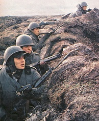 Argentine soldiers during the Falklands War