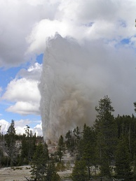 Steamboat Geyser is the world's largest active geyser.