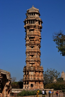 Vijay Stambha was constructed by Rana Kumbha in 1448 CE to commemorate his victory over the combined armies of Malwa and Gujarat led by Mahmud Khalji.