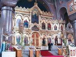 Uspenski Cathedral iconostasis.