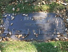Brennan's grave at San Fernando Mission Cemetery