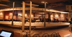 Original 1903 Wright Flyer in the National Air and Space Museum in Washington, D.C.