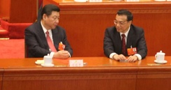 Chinese Communist Party general secretary Xi Jinping (left) with State Council Premier Li Keqiang