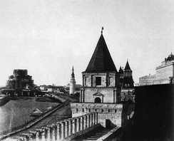 The building under construction in 1852 (as seen from the Kremlin)