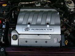 A 4.0 L (244 cu in) V8 engine from an Oldsmobile Aurora