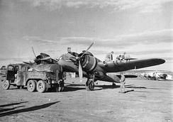 414th Night Fighter Squadron Bristol Beaufighter at a base in Tunisia, 1943