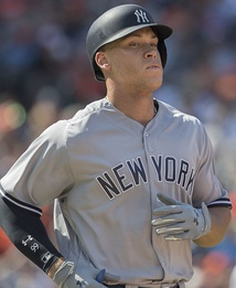 Aaron Judge with the Yankees in 2017