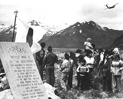 Dedication of the Aleutians Campaign Memorial on 5 June 1982 at Dutch Harbor, Alaska