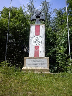 "Monument in South River, New Jersey for ""Those who fought for Freedom and Independence of Byelorussia"""