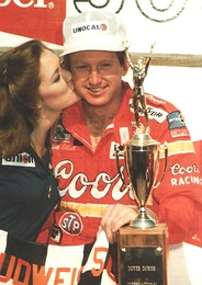 Elliott, after he won the Budweiser 500 at Dover Downs International Speedway in 1985