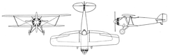 Boeing F2B-1 3-view drawing from L'Aéronautique October,1927