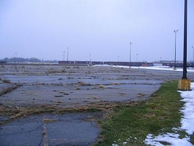 The demolition site of Buick City, for many years General Motors' flagship factory on the North side.