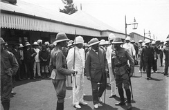 German Colonial Secretary Bernhard Dernburg (2nd from right) on inspection tour in East Africa, shown on a courtesy visit with British officials at Nairobi in 1907