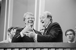 Humphrey with Jimmy Carter in 1976