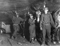 Child coal miners in West Virginia, 1908