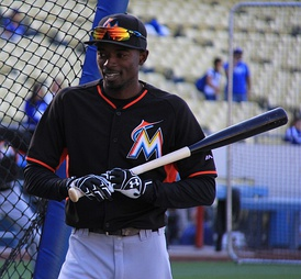 Gordon playing for the Miami Marlins in 2016