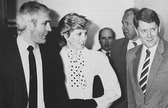 Diana visiting the drug squad of the West Midlands Police in 1987