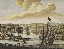 Dutch ships arriving in the harbours of Bengal.