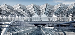 Gare do Oriente train station, designed by Santiago Calatrava.