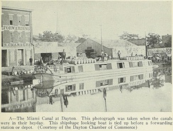 A photograph of the Miami and Erie Canal from Geography of Ohio, 1923