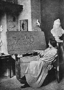 Hauptmann at his atelier in Rome.
