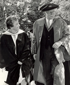 Governor General Roland Michener attends graduation ceremonies at Alma College in 1972