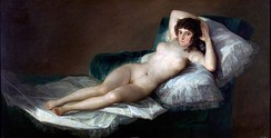 Goya's Nude Maja (ca. 1795), a painting Simon discusses in the film.