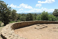 Great Kiva at Chimney Rock in the San Juan Mountains of Southwestern Colorado. It is said to have been built by the Ancient Pueblo peoples.