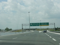 Highway 401 in Windsor near its former western terminus with Dougall Parkway