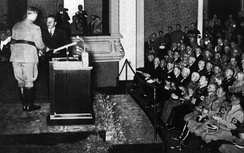 Johst receives a literary prize from Alfred Rosenberg