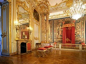 Bedroom of the king in the Rohan Palace from Strasbourg (France)